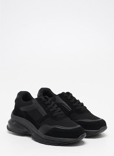 F By Fabrika Kadın Bej Sneakers SERENA Siyah